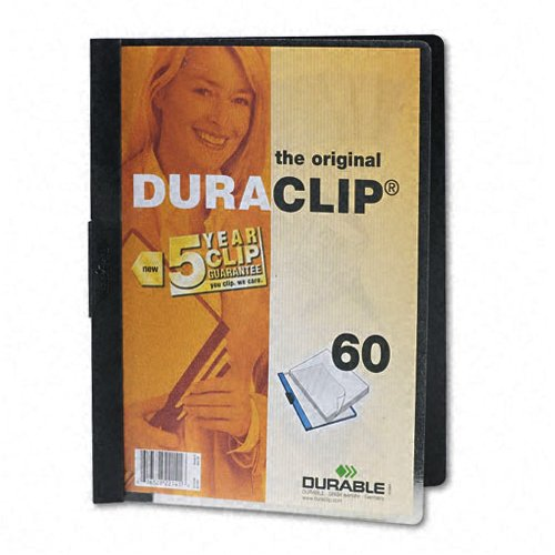 Durable Clear/Black DuraClip Report Cover (60 sheets) (DBL-2214-BK) Image 1
