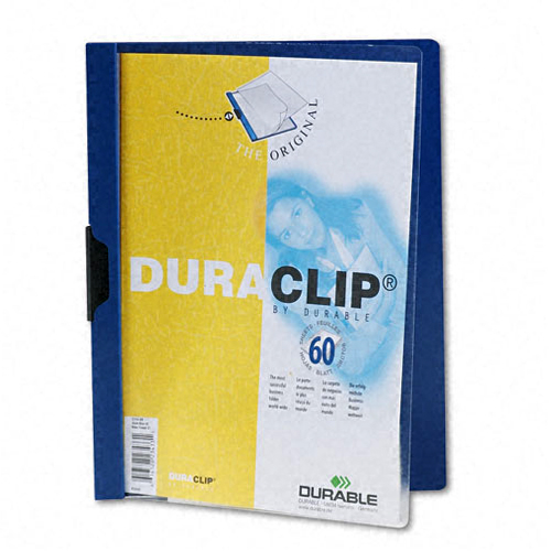 Durable Clear/Dark Blue DuraClip Report Cover (60 sheets) (DBL-2214-DB) Image 1