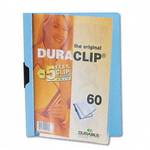 Durable Clear/Light Blue DuraClip Report Cover (60 sheets) (DBL-2214-BE) Image 1