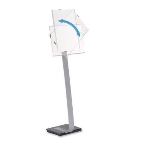 "Durable 481523 Info Sign Duo Floor Sign Stand for 11"" x 17"" Inserts (DBL481523) Image 1"