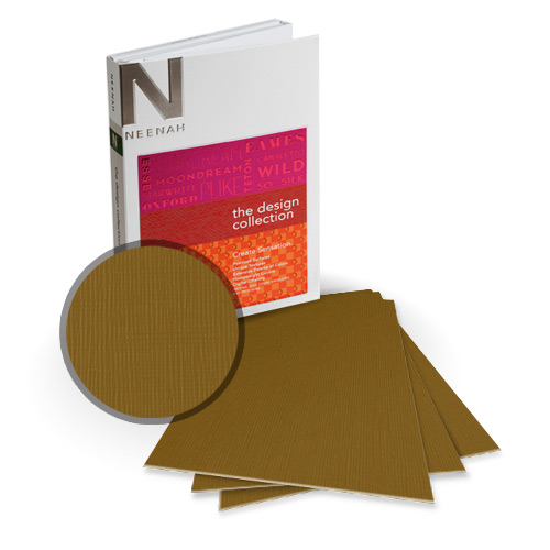 "Neenah Paper Eames Brown Umber 8"" x 8"" 120lb Canvas Card Stock - 15 Sheets (NEPCCBU480-J) - $8.09 Image 1"