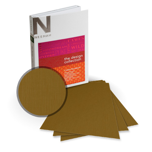 "Neenah Paper Eames Brown Umber 9"" x 11"" 80lb Canvas Card Stock - 8 Sheets (NEPCCBU320-B) Image 1"