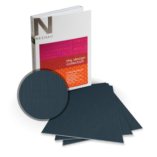 "Neenah Paper Eames Graphite 9"" x 11"" 120lb Canvas Card Stock - 8 Sheets (NEPCCG480-B) Image 1"