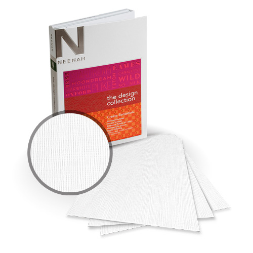 "Neenah Paper Eames White 5.5"" x 8.5"" 120lb Canvas Card Stock - 18 Sheets (NEPCCEW480-C) - $7.49 Image 1"