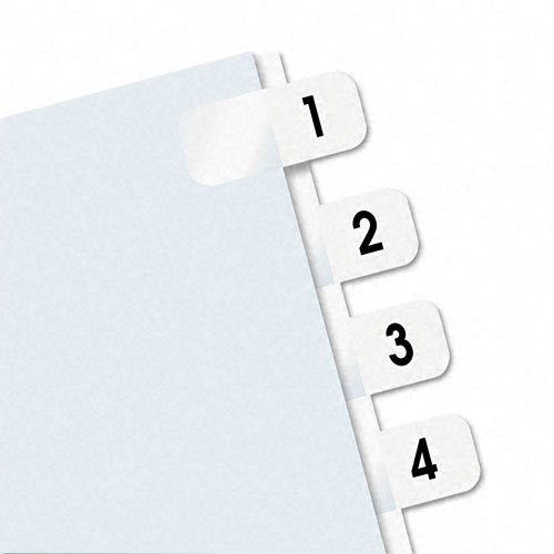 Redi-Tag 1-10 tab Self-Stick Side-Mount Plastic Tabs (RTG-31001) - $3.09 Image 1