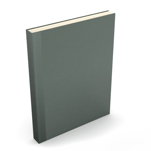 "Powis Parker Fastback Easyback 8.5"" x 11"" Dark Gray Buckram Hardcovers - 50 Pieces (EBBHDG8511) Image 1"