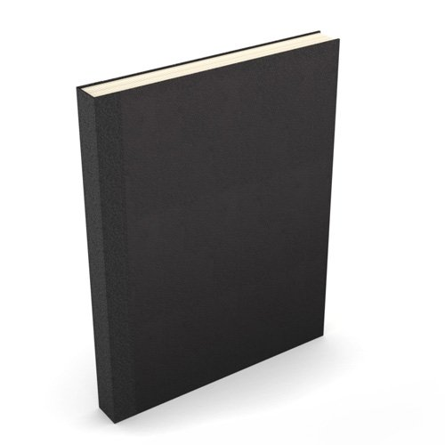 "Powis Parker Fastback Easyback 8.5"" x 11"" Black Composition Hardcovers - 25 Sets (EBCHBK8511)"