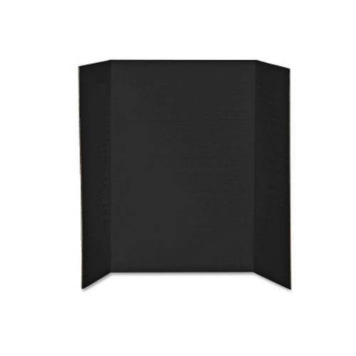 "Elmer's 48"" x 36"" Tri-Fold Black Corrugated Project Display Board (2 Ply) (EPI730191) Image 1"