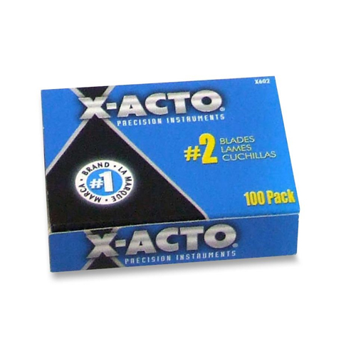 Elmer's X-Acto X602 No. 2 Precision Knife Replacement Blade - 100pk (EPIX602) Image 1