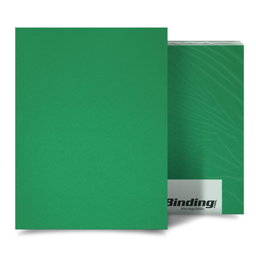 "Emerald 16mil Sand Poly 5.5"" x 8.5"" Binding Covers - 25pk (MYMP165.5X8.5EM) Image 1"