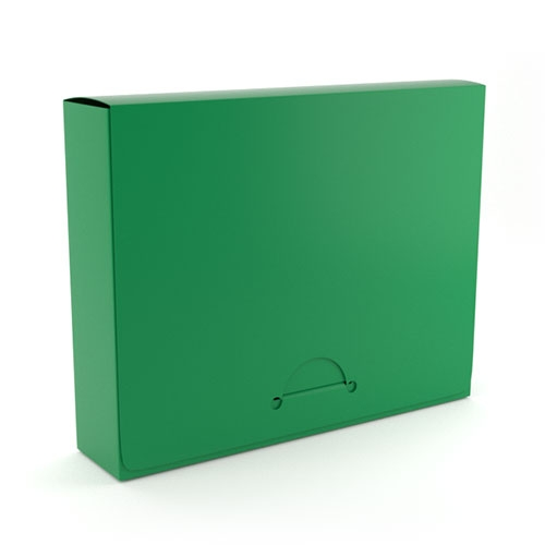 "1"" Letter Emerald Poly Document Boxes (MYPDB100EM), Binding Covers Image 1"