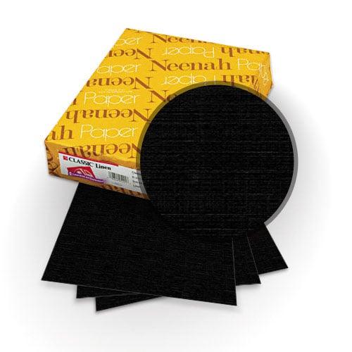 Neenah Paper Epic Black 80lb A4 Size lassic Linen Cover - 25pk (MYCLINA4EB) - $18.29 Image 1