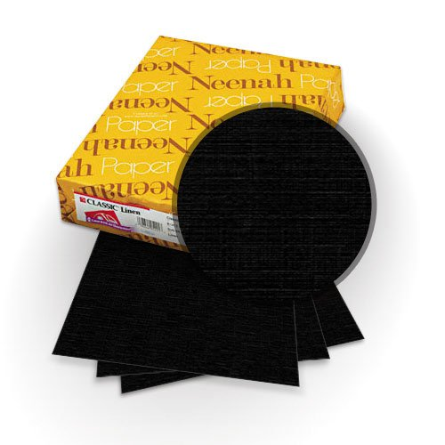 Neenah Paper Epic Black 80lb Classic Linen Covers (MYCLINEB), Neenah Paper brand Image 1