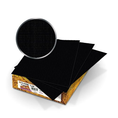 Neenah Paper Epic Black Classic Laid 80lb 11