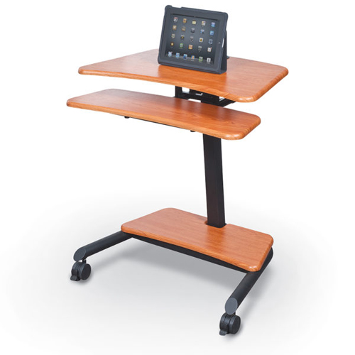Essentials by MooreCo Up-Rite Adjustable Height Mobile Sit/Stand Workstation (ES-90459)
