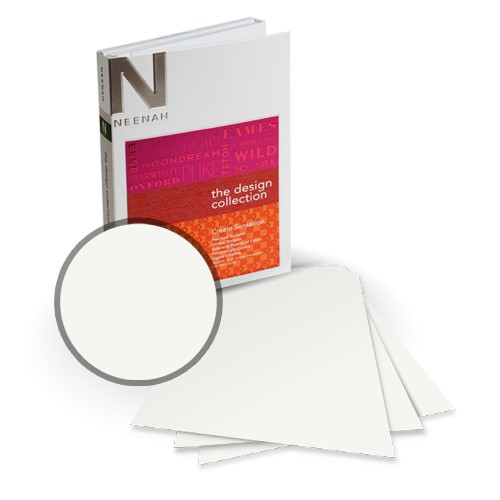 "Neenah Paper 5.5"" x 8.5"" Esse Smooth Card Stocks - 18 Sheets (Half Letter Size) (NESSC5.5X8.5) Image 1"