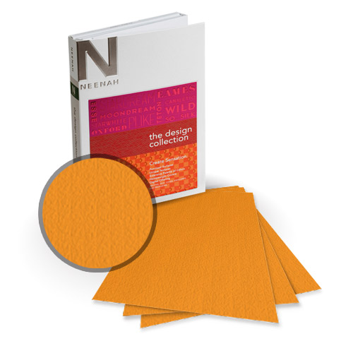 "Neenah Paper Esse Texture Arancio 11"" x 17"" 100lb Card Stock - 4 Sheets (NESTCA400-E) Image 1"