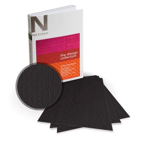 "Neenah Paper Esse Texture Black 5.5"" x 8.5"" 100lb Card Stock - 18 Sheets (NESTCBK400-C) - $6.89 Image 1"