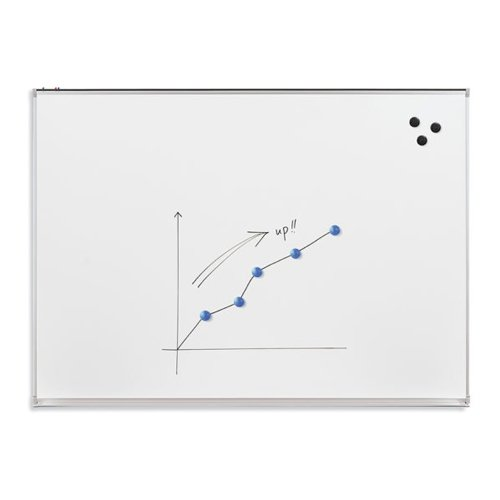 Essentials by MooreCo 4' x 8' Magnetic Porcelain Whiteboard with Tack Rail (83213), Brands Image 1
