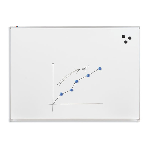 Essentials by MooreCo 4' x 8' Magnetic Porcelain Whiteboard with Tack Rail (83213) Image 1
