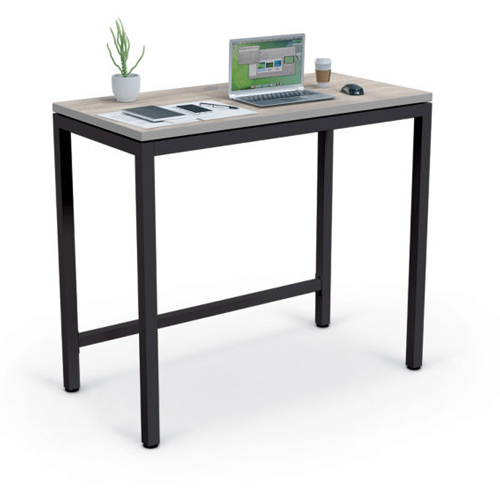 Essentials by MooreCo Stand Up Desk (Gray Elm Top/Gray Edgeband with Black Frame) (ES-84313), Work from Home Products Image 1