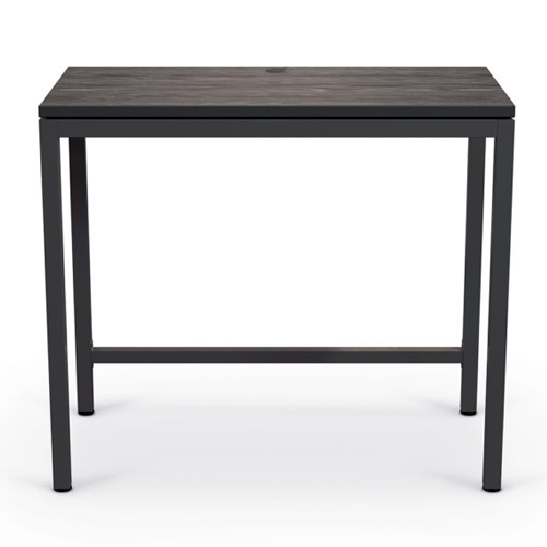 Essentials by MooreCo Stand Up Desk (Low Line Top/Black Edgeband with Black Frame) (ES-84315), Work from Home Products Image 1