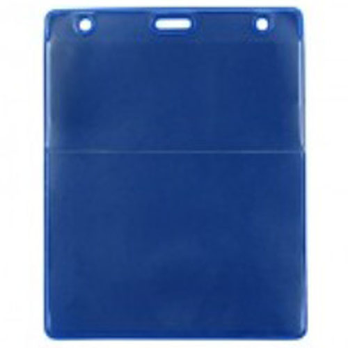 Royal Blue Vertical Event Vinyl Credential Wallet with Slot and Chain Holes - 100pk (1860-4003) Image 1