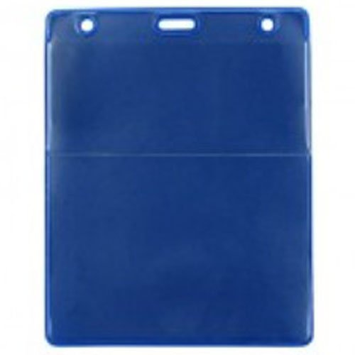 Royal Blue Vertical Event Vinyl Credential Wallet with Slot and Chain Holes - 100pk (1860-4003), Id Supplies Image 1