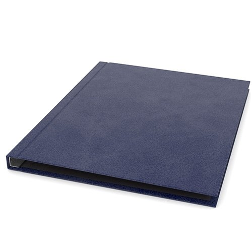 "ChannelBind Blue 9"" x 11"" Executive Suede Hard Covers (Size A) - 25pk (CHB-ES25217), Binding Supplies Image 1"