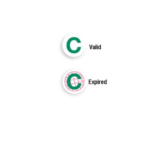 Expiring One Day TIMEspot FRONTpart - Green C - 1000pk (06136), MyBinding brand Image 1