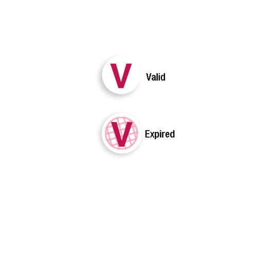 Expiring One Day TIMEspot FRONTpart - Red V - 1000pk (06122) Image 1
