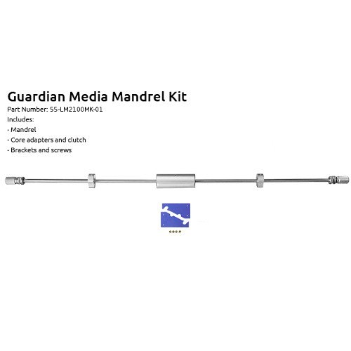 Extra Media Mandrel Kit for Guardian Laminators Image 1