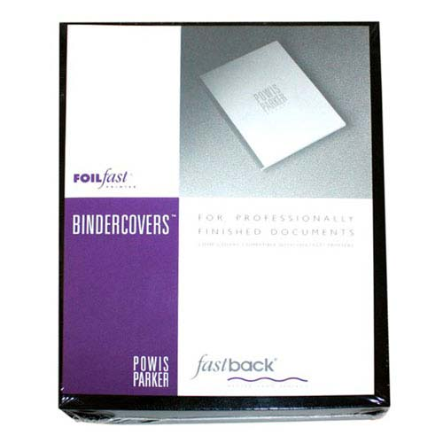 "Powis Parker Fastback Black 8.5"" x 11"" FoilFast Composition Covers (GA101) Image 1"