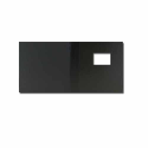 "Powis Parker Fastback Black Comp 8"" x 10"" Landscape Hard Covers with Window (3/4"" Spine C) - 25pk (206013) Image 1"