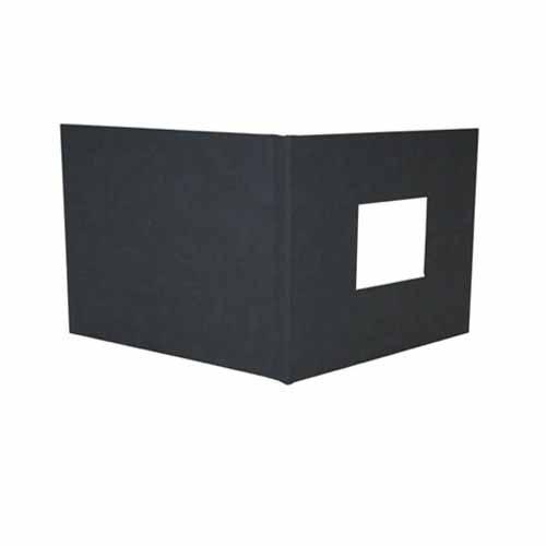 "Powis Parker Fastback Black Suede 8"" x 12"" Landscape Hard Covers w/ Window (1/2"" Spine B) - 25pk (HBSBB-LJ) Image 1"