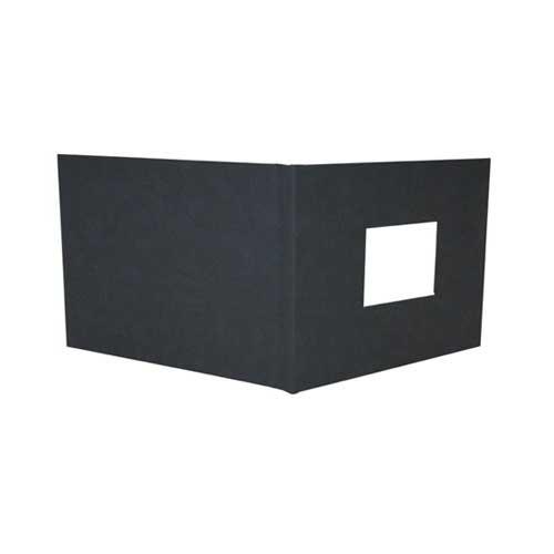 "Powis Parker Fastback Black Suede 8"" x 12"" Landscape Hard Covers w/ Window (3/4"" Spine C) - 25pk (HBSBC-LJ) Image 1"