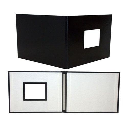 "Powis Parker Fastback Black Suede 8"" x 12"" Landscape Hard Covers w/ Window (HBSB-LJ) Image 1"