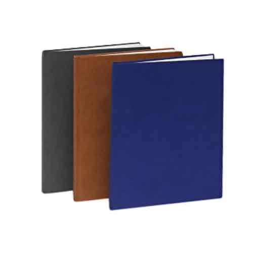 "Powis Parker Fastback Black Suede Hard Covers (1"" Spine D) - 25pk (HJSBD)"