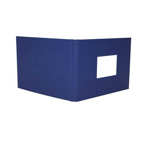 "Powis Parker Fastback Bright Blue Suede 12"" x 12"" Hard Covers with Window (HASE-SK) Image 1"