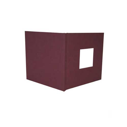 "Powis Parker Fastback Maroon Suede 8"" x 12"" Landscape Hard Covers with Window (1/2"" Spine B) - 25pk (HBSMB-LJ) Image 1"