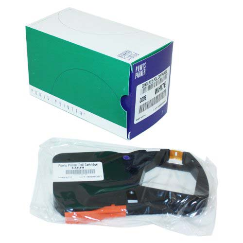 White Fastback Printer Cartridge Image 1