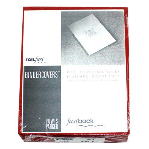 "Powis Parker Fastback Red 8.5"" x 11"" FoilFast Composition Covers (GA130) Image 1"