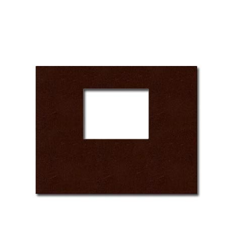"Powis Parker Fastback Tan Leather 8"" x 10"" Landscape Hard Covers with Window (1/2"" Spine B) - 25pk (205638)"