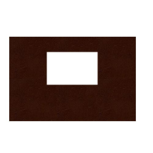 "Powis Parker Fastback Tan Leather 8"" x 12"" Landscape Hard Covers with Window (1/2"" Spine B) - 25pk (HBHTB-LJ) Image 1"