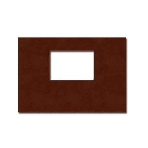 "Powis Parker Fastback Tan Suede 8"" x 12"" Landscape Hard Covers with Window (1/2"" Spine B) - 25pk (HBSTB-LJ) Image 1"