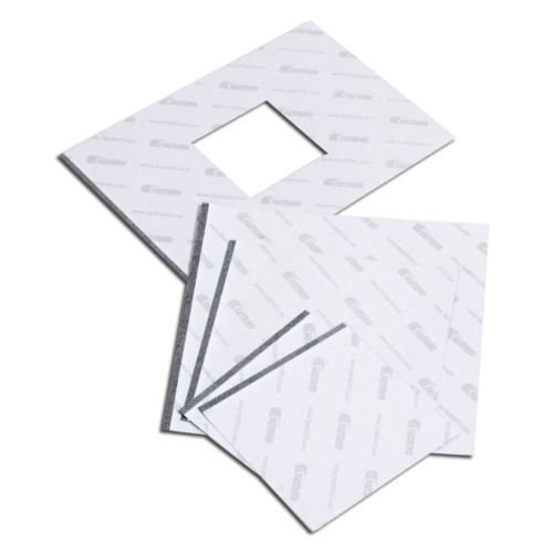 "Fastbind 12"" x 12"" Square White BooxTer End Sheet - 100 pcs (FBBXTRES1212W) Image 1"
