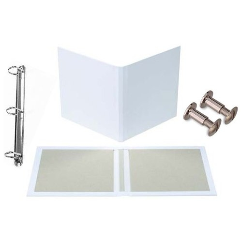 "Fastbind 1/2"" Customizable 11"" x 17"" Landscape 3-Ring Binder Kit - 5 Sets (CEBR1117.5) Image 1"