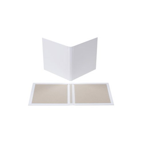 "Fastbind 3/8"" Express Blank Cases (Landscape) for Perfect Binder with White End Papers - 10 Sets (FBPBCEBLL38) Image 1"