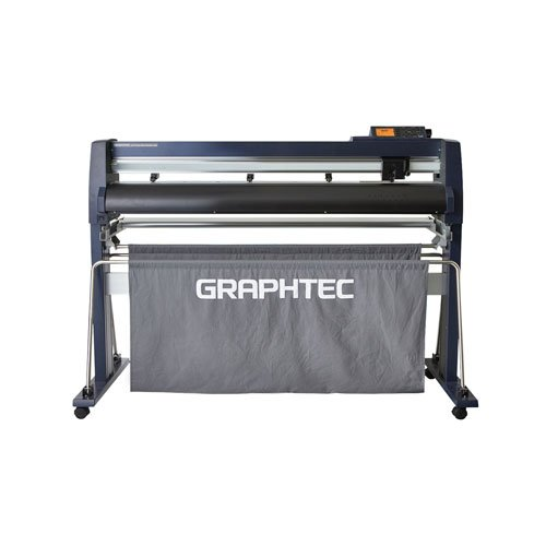 "Graphtec 42"" Roll-Fed Vinyl Cutter and Plotter with Stand and Basket (FC9000-100) Image 1"