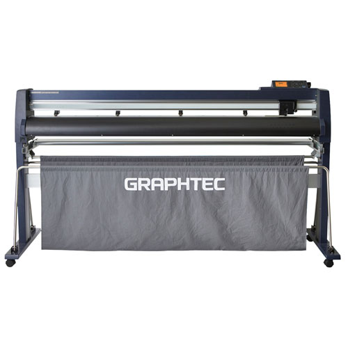 "Graphtec 64"" Roll-Fed Vinyl Cutter and Plotter with Stand and Basket (FC9000-160) Image 1"